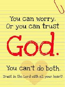 trust vs worry